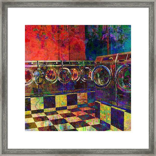 Secret Life Of Laundromats Framed Print