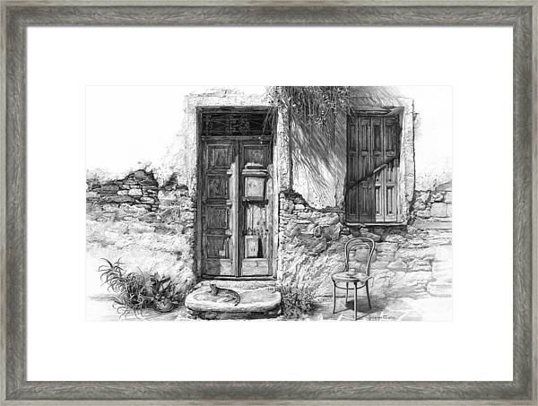 Secret Of The Closed Doors Framed Print