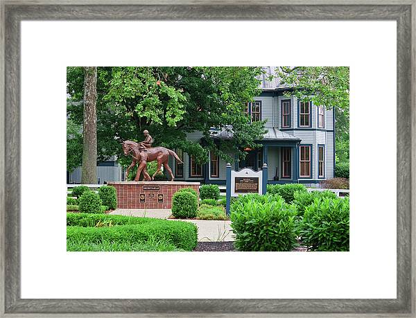 Secretariat Statue At The Kentucky Horse Park Framed Print