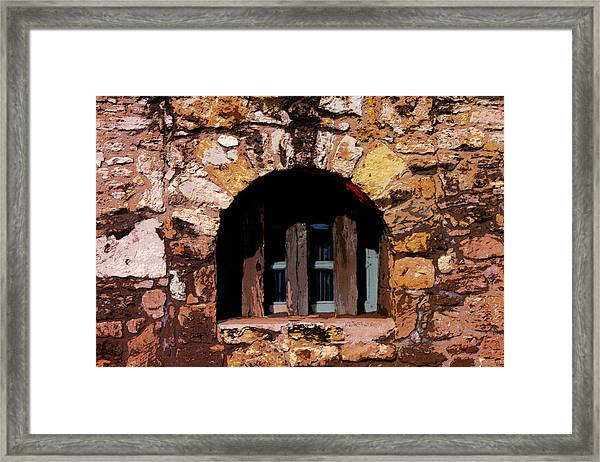 Secured--the Alamo Framed Print