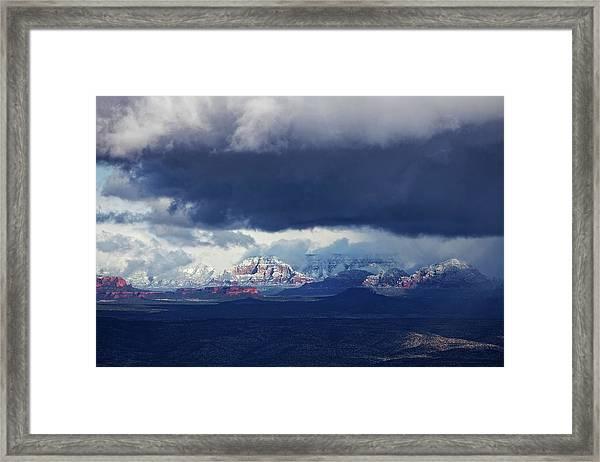 Sedona Area Third Winter Storm Framed Print