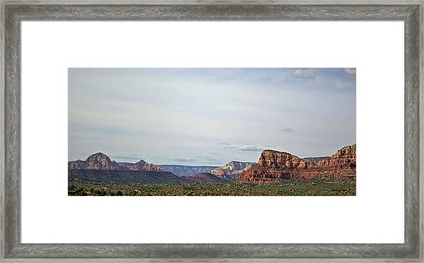 Sedona Arizona Panorama I Framed Print