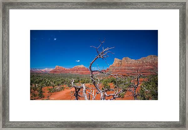 Sedona Blue Framed Print