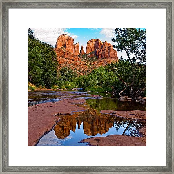 Sedona Cathedral Rock Reflections Framed Print