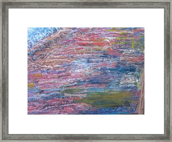 Sedona Mesa Strata  Framed Print by Anne-Elizabeth Whiteway