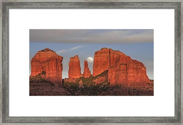 Sedona Moon Framed Print