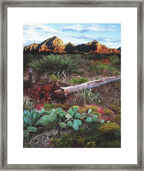 Sedona Mountain Sunrise Framed Print