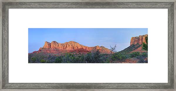 Sedona Panoramic - Highway 179 Framed Print