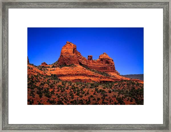 Sedona Rock Formations Framed Print