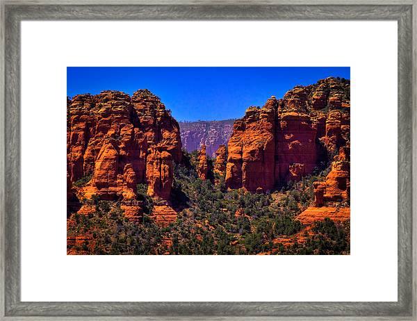 Sedona Rock Formations II Framed Print