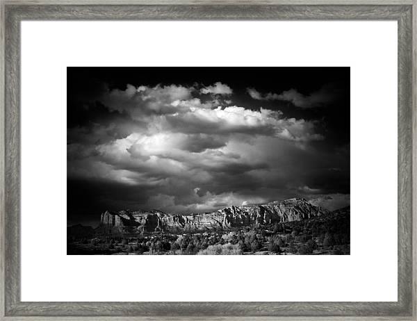 Sedona Storm Framed Print