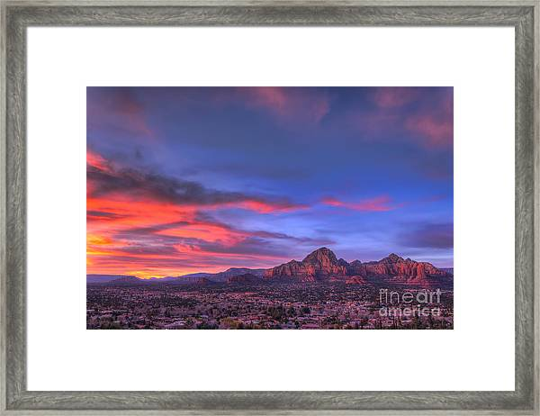Sedona Sunset Framed Print