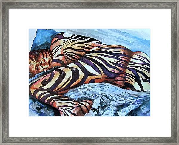 Seduction Of Stripes Framed Print
