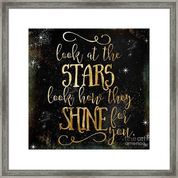 See How The Stars Shine Framed Print