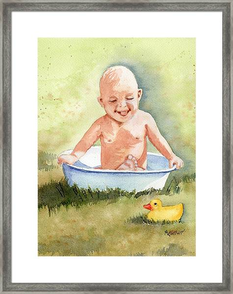 See My Toes Framed Print