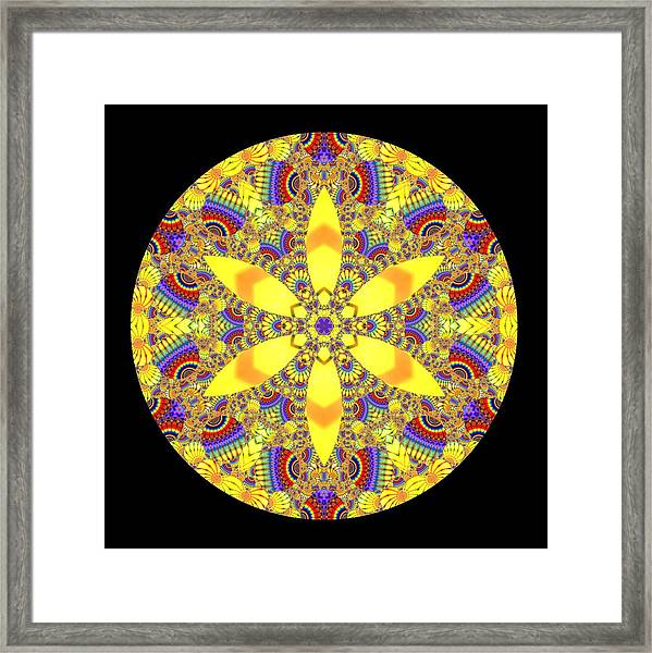 Framed Print featuring the digital art Seed Of Life  by Robert Thalmeier