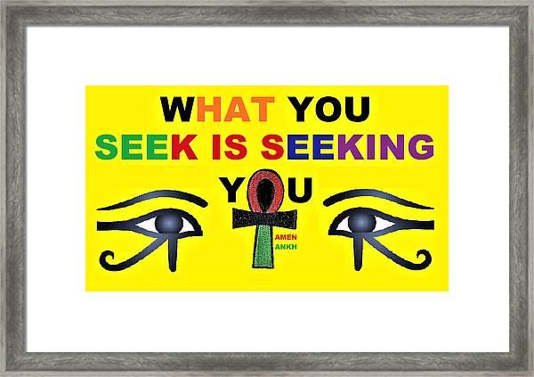 Seeking Framed Print