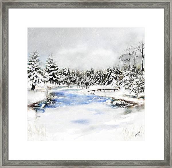 Seeley Montana Winter Framed Print