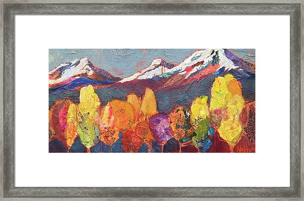 Framed Print featuring the painting Seize The Day by Shelli Walters