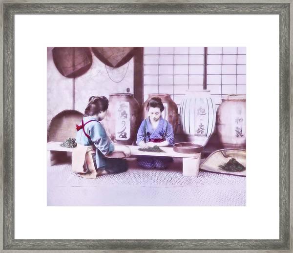 Selecting Tea Framed Print