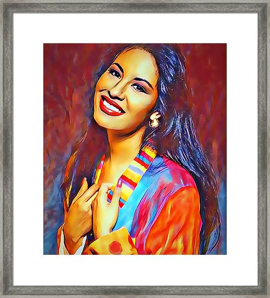 Selena Queen Of Tejano  Framed Print