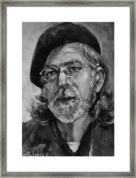 Self Portrait In Grey Framed Print
