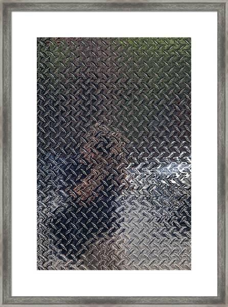 Self Portrait In Steel Framed Print