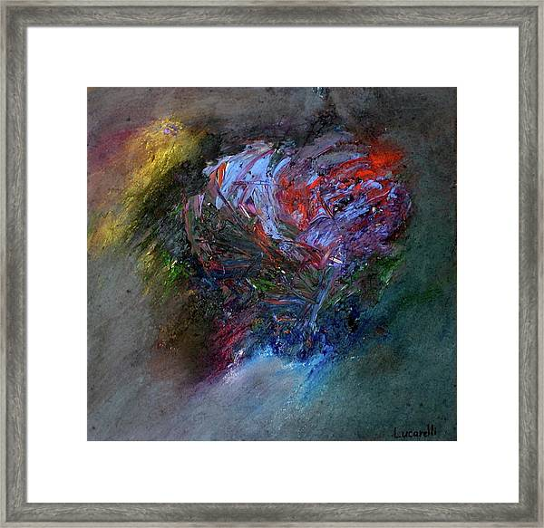 Framed Print featuring the painting Self  Portrait  by Michael Lucarelli