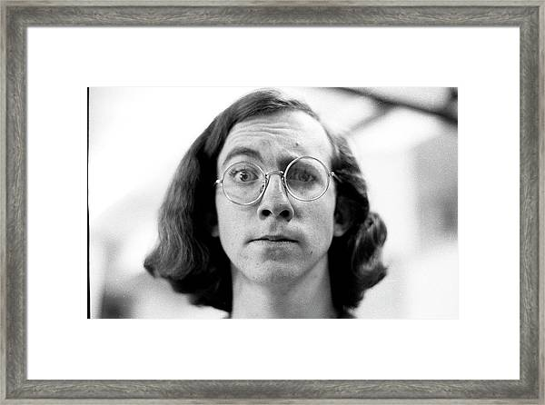Self-portrait, With Raised Eyebrow, 1972 Framed Print