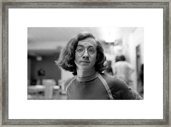 Self-portrait, With Raised Eyebrow, 1972, Number 2 Framed Print