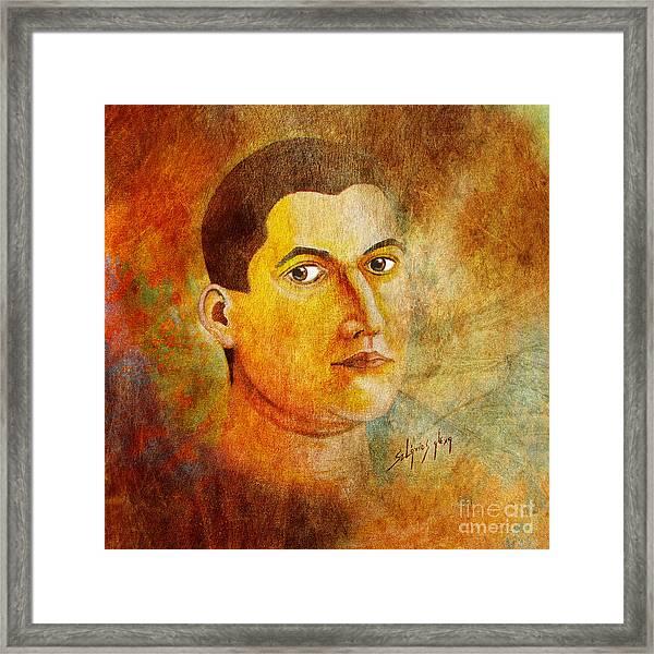 Selfportrait Oil Framed Print