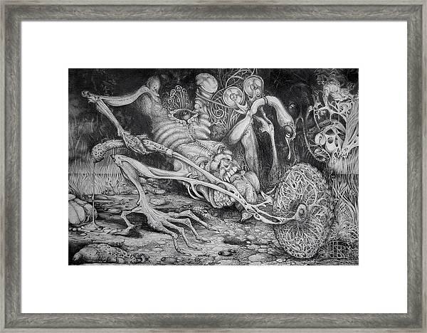 Selfpropelled Beastie Seeder Framed Print