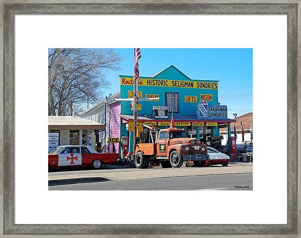 Seligman Sundries On Historic Route 66 Framed Print