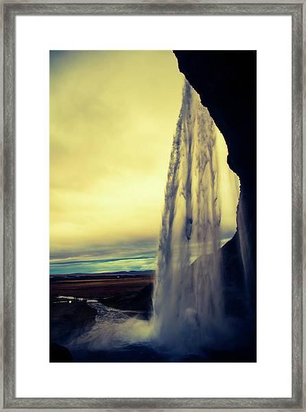 Seljalandsfoss Sunset Framed Print