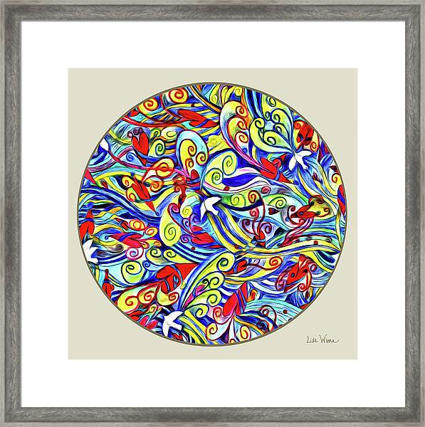 Semi Abstract Paintings Button Framed Print