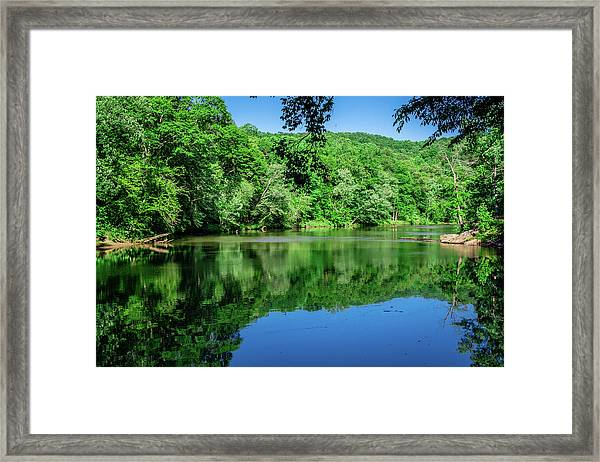 Semi Placid Stream Framed Print