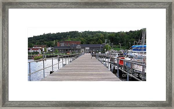 Seneca Lake Pier Watkins Glen New York Framed Print