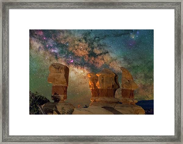Sentinels Of The Night Framed Print