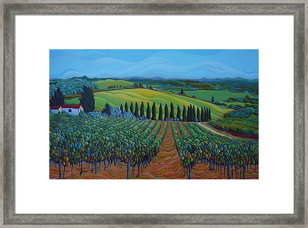 Sentrees Of The Grapes Framed Print