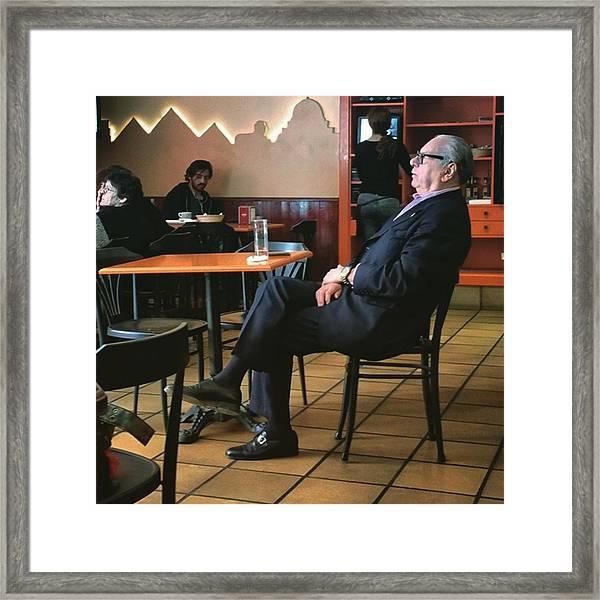 Señor #bar #portrait  #man Framed Print