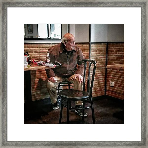 Señor #bar #portrait Framed Print