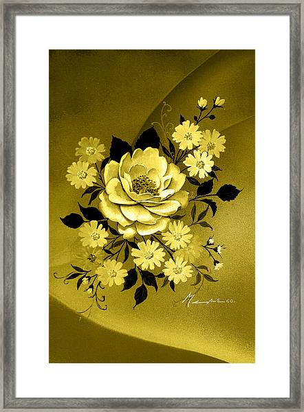 Sepia Bouquet Framed Print