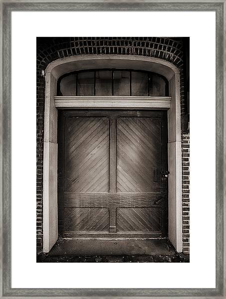 Sepia Doorway Framed Print