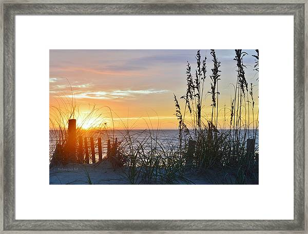 September 27th Obx Sunrise Framed Print