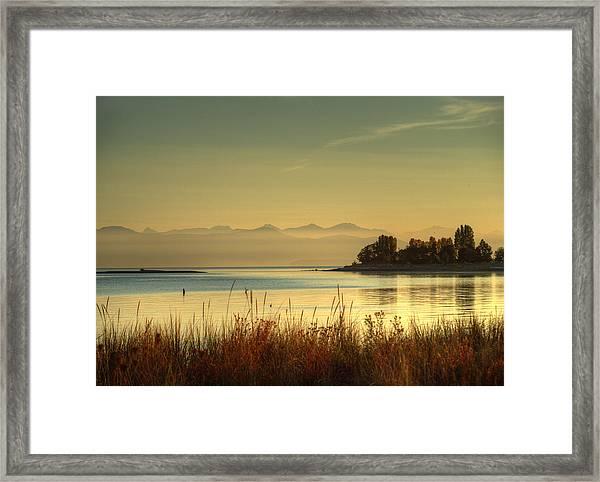 September Morn Framed Print