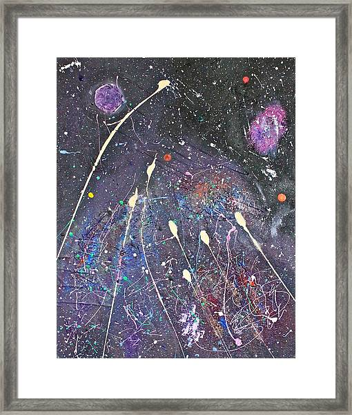 Framed Print featuring the painting Septuplets by Michael Lucarelli