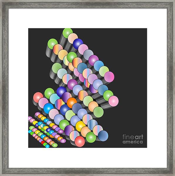 Framed Print featuring the digital art Sequence by Eleni Mac Synodinos