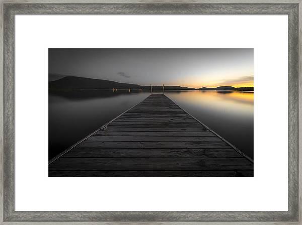 Serene Lake 2 Framed Print