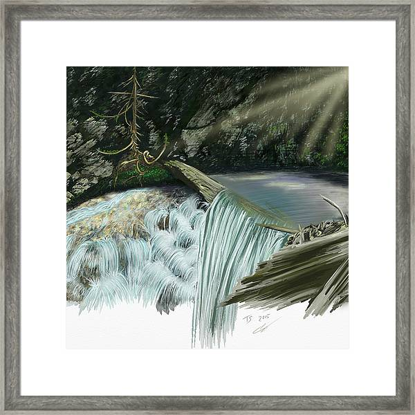 Serene Oasis Of Stagger Inn Framed Print