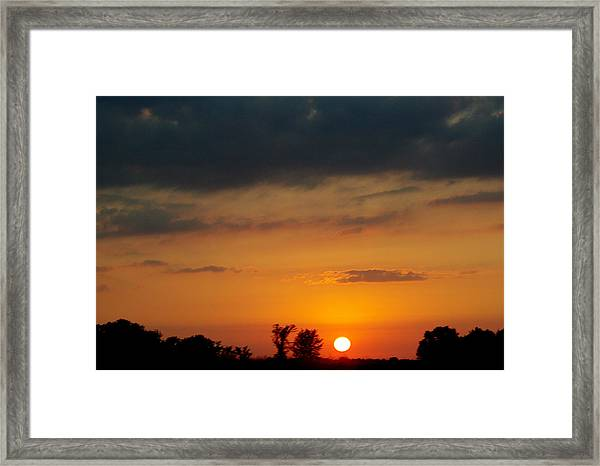 Serengeti Sunset Framed Print